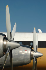 Wall Mural - vintage airplane engines and propellers
