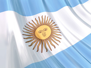 Glossy Flag of Argentina