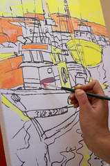 Painting a ship