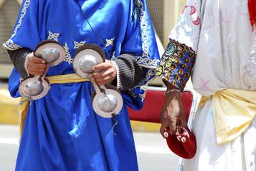 Fotobehang Marokko gruppo musicisti locali in Marocco