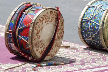 Foto op Canvas Marokko gruppo musicisti locali in Marocco