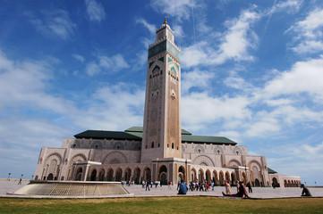 Fotorolgordijn Marokko moschea di Hassan 2`a Casablanca in Marocco