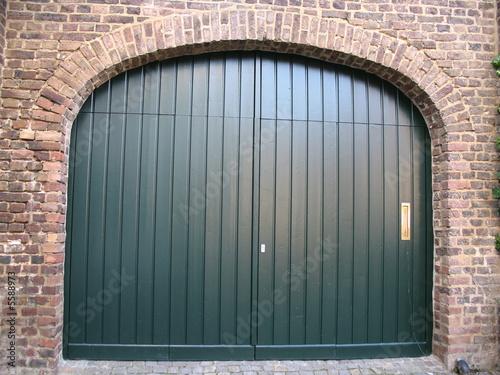 Garagentor holz grün  Garagentor Grün | Nabcd