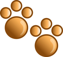 Illustration of a paw print icon