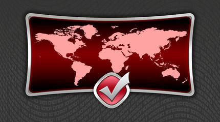 Cherry world map icon