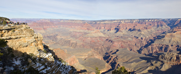 Panoramia from Mother Point on Grand Canyon, Winter, AZ