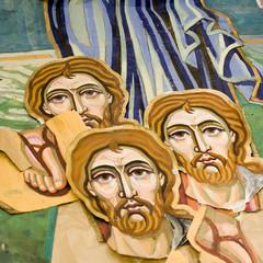 Cartoons for mosaic icon. Artwork of Yaroslava Volnenko