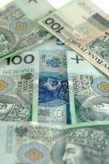 image from business series: arrow from polish banknotes