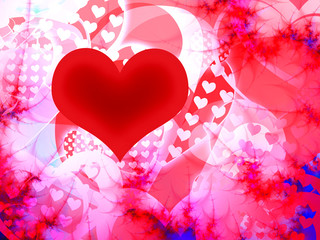 illustration of valentine heart background