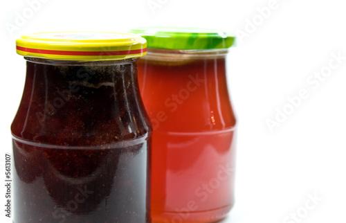 Marmeladenglaser Auf Weissem Hintergrund Stock Photo And Royalty