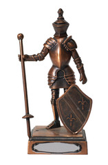 figure of knight isolated over white