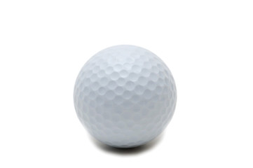 Golf ball isolated on the white background
