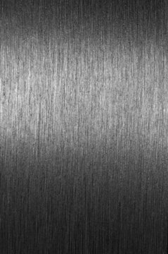 Shiny brushed metal surface suitable for for background