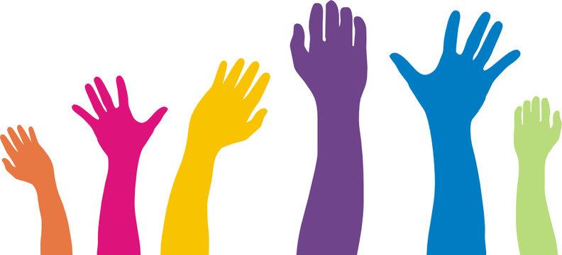 brazos de colores