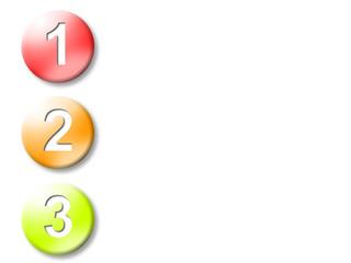 Schritt 1 bis 3, Symbol