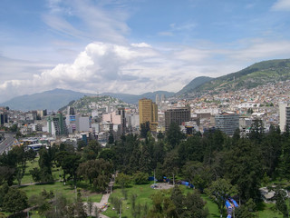 Panorama of Quito, capital of Ecuador