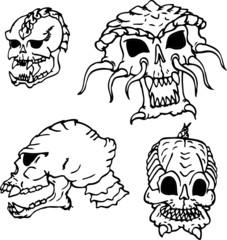 allien skull set