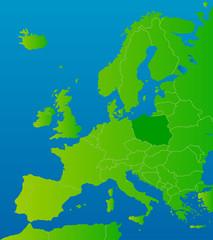 europa-karte polen