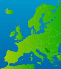 europa-karte serbien