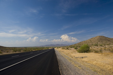 Summer Day on Northbound AZ-85 Arizona Desert Road