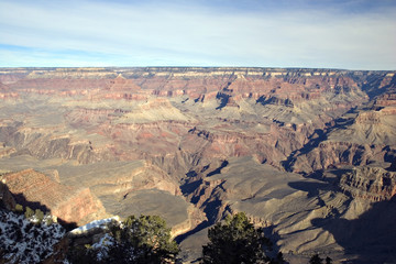 View from Mother Point on Grand Canyon in Winter, Arizona
