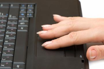 hand & computer