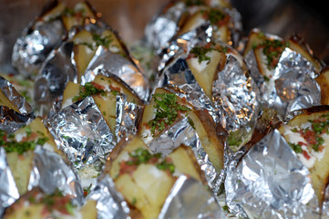 Baked Potatoes in foil