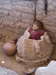 Chauchilla ancient cemetery in the desert of Nazca, Peru