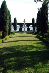 garden view of fountain