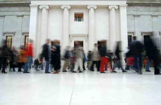 Visitors in the British Museum