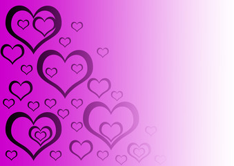 gradient background with purple heart on it