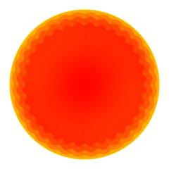 orange abstract golf ball