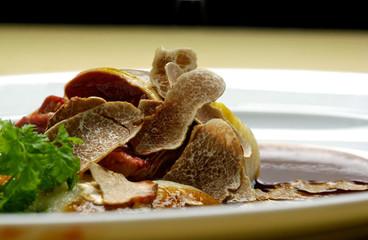 Bulls testicles in truffle sauce