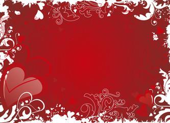 red valentine background - vector