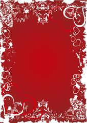 red valentine frame - vector