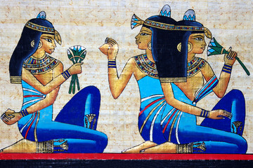 Wall Murals Egypt beautiful egyptian papyrus