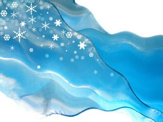Blue flying ssilk