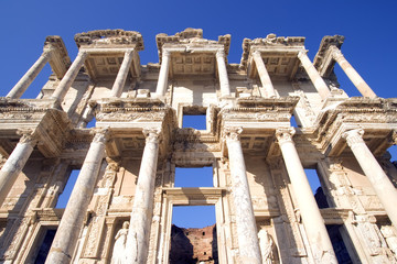 Celsus Library in the ancient Turkish city of Ephesus.