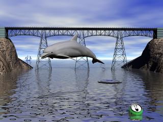 delfin en rio contaminado