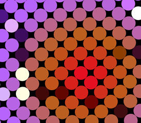 Colorful spot pattern on black for backdrops