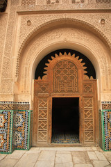 Decorative palace doorway in Morocco North Africa.