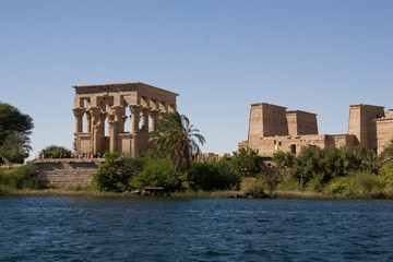 Temple of Philae view from the Nile