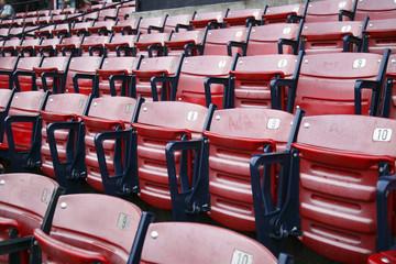 Empty seats at Fenway park
