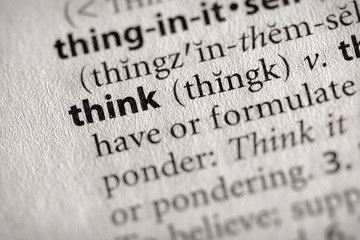 """""""think"""". Many more word photos in my portfolio...."""