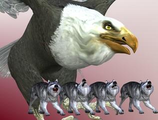 Adler und Wölfe