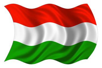 hungaryan flag isolated