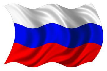 russian flag isolated