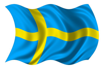 sweden flag isolated