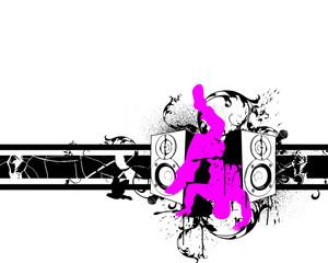 abstrakt pink B Boy