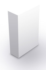 Plain white box with shadows in perspective